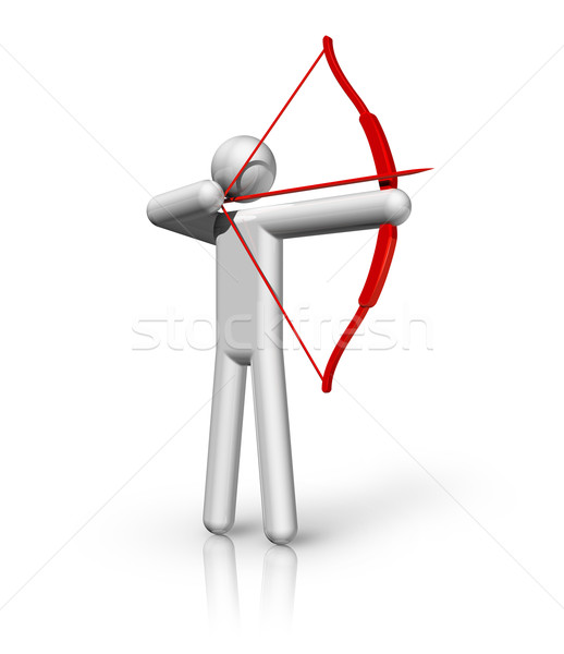 Archery 3D symbol Stock photo © daboost