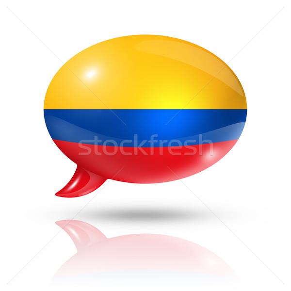 Colombian flag speech bubble Stock photo © daboost