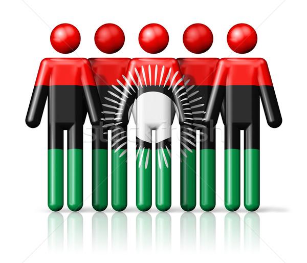 флаг Малави stick figure социальной сообщество символ Сток-фото © daboost