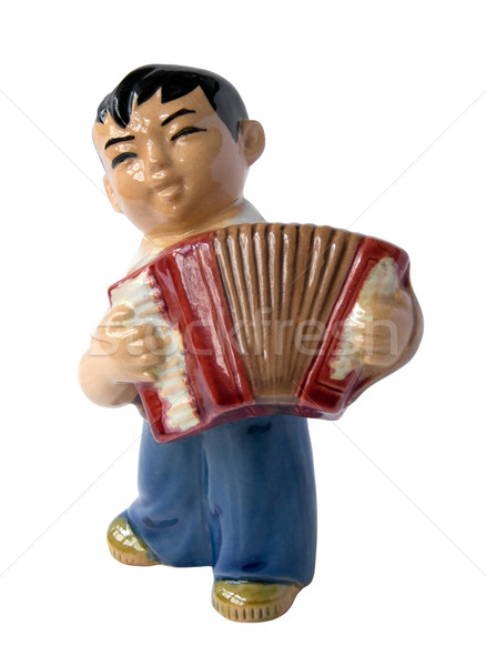 chinese accordion player Stock photo © daboost