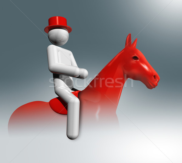 Equestrian Dressage 3D symbol, Olympic sports Stock photo © daboost