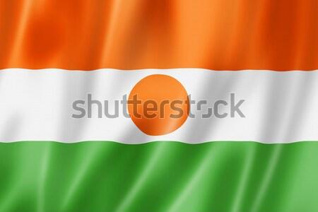 Níger bandera tridimensional hacer raso textura Foto stock © daboost