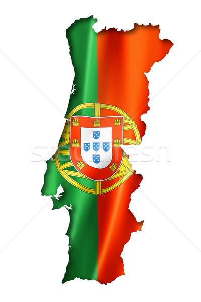 Portuguese flag map Stock photo © daboost