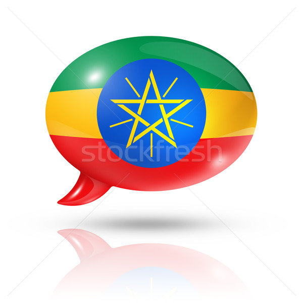 Ethiopian flag speech bubble Stock photo © daboost