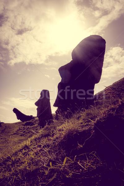 Vulcão páscoa ilha paisagem azul viajar Foto stock © daboost