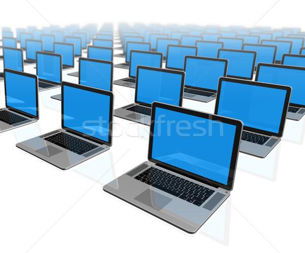 Laptop számítógépek izolált fehér 3D munka Stock fotó © daboost