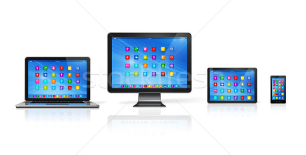 Stock photo: Computer Devices Set