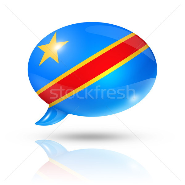 Democratic Republic of the Congo flag speech bubble Stock photo © daboost