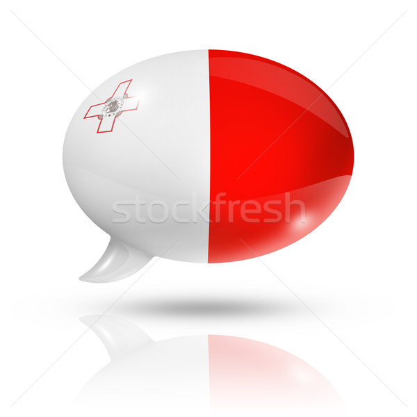 Malta flag speech bubble Stock photo © daboost