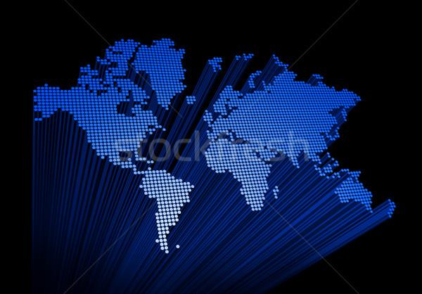 three dimensional world map Stock photo © daboost
