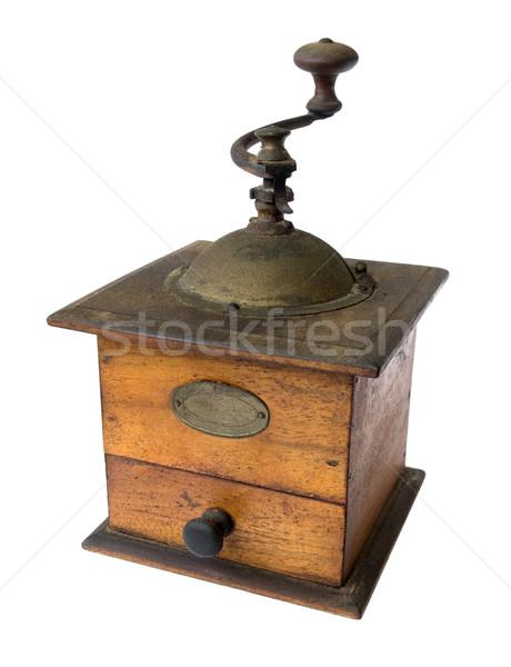 кофе мельница старые ржавые древесины металл Сток-фото © daboost