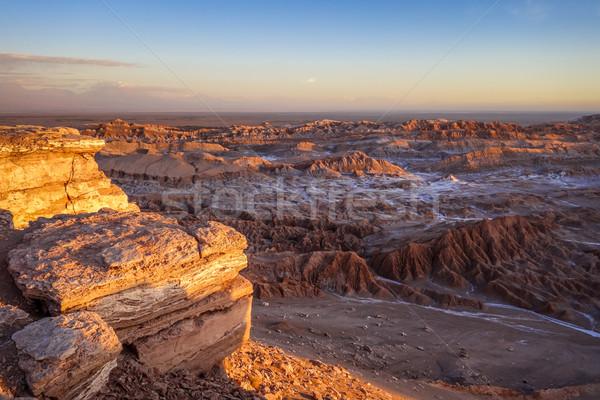 Valle de la Luna at sunset in San Pedro de Atacama, Chile Stock photo © daboost