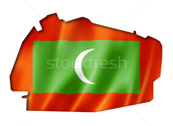 Мальдивы флаг карта оказывать изолированный Сток-фото © daboost