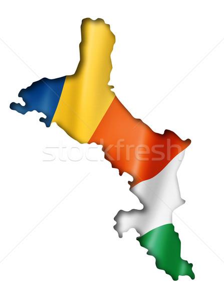 Seychelles flag map Stock photo © daboost