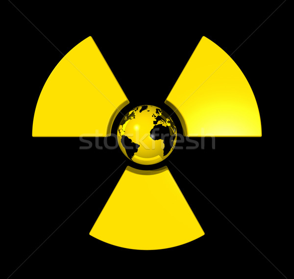 Radioactive world globe Stock photo © daboost