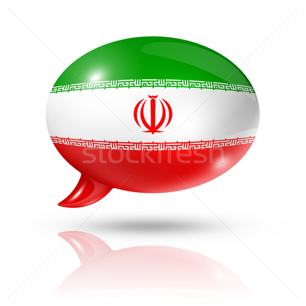 Iranian flag speech bubble Stock photo © daboost