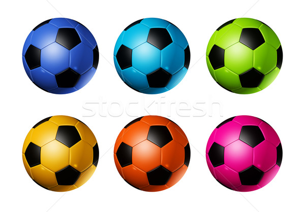 Colored soccer football balls Stock photo © daboost