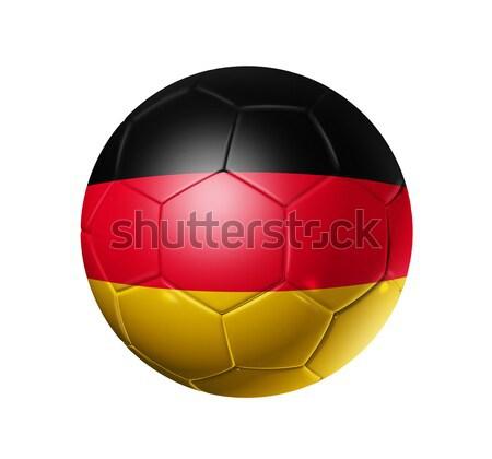 Voetbal voetbal bal Duitsland vlag 3D Stockfoto © daboost