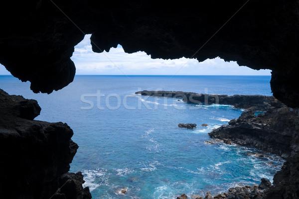 Oceano paisagem caverna páscoa ilha Foto stock © daboost