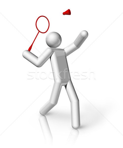 Badminton 3D symbol Stock photo © daboost