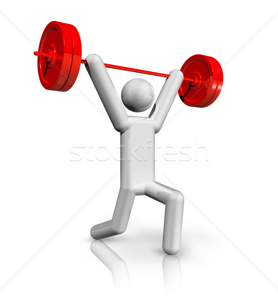 Weightlifting 3D symbol Stock photo © daboost
