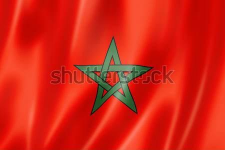 Moroccan flag Stock photo © daboost