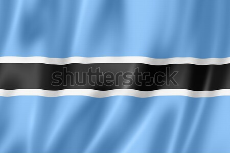 Botswana vlag geven satijn textuur Stockfoto © daboost
