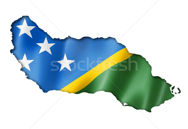 Solomon Islands flag map Stock photo © daboost