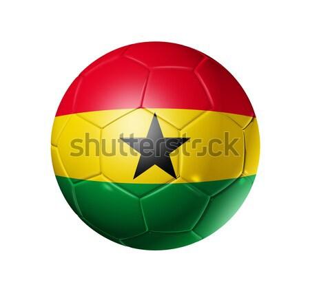 Soccer football ball with Ghana flag Stock photo © daboost