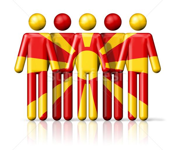 Bandera Macedonia social comunidad símbolo Foto stock © daboost