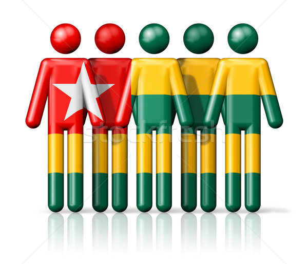 Flag of Togo on stick figure Stock photo © daboost
