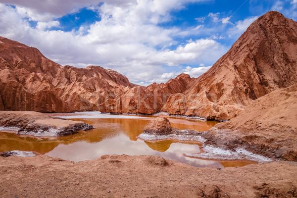 LA tájkép sivatag hegy kék halál Stock fotó © daboost
