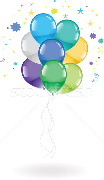 vector festive colorful balloons  Stock photo © Dahlia