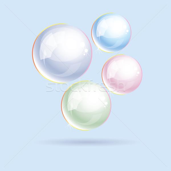 Vector kleurrijk zeepbellen water licht ontwerp Stockfoto © Dahlia