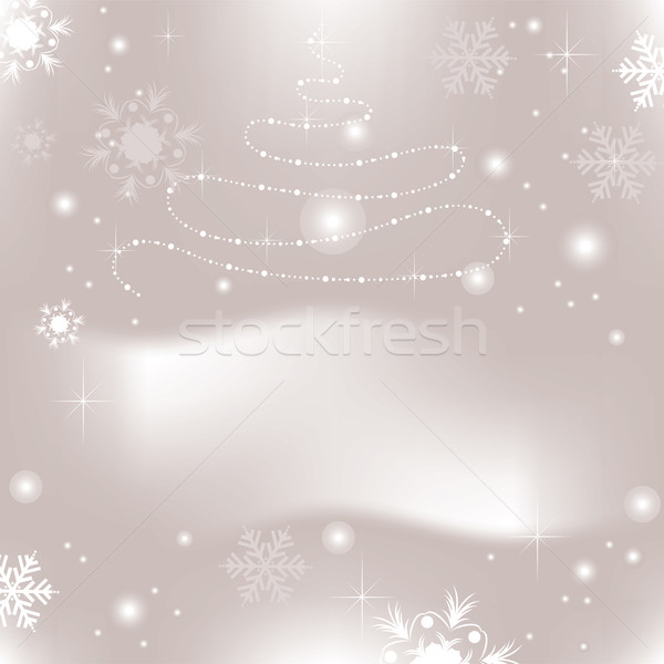 Soyut noel vektör arka plan beyaz Noel Stok fotoğraf © Dahlia
