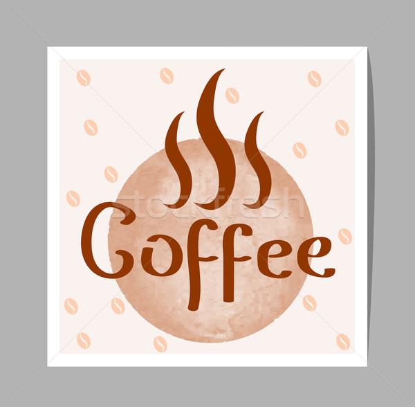 вектора кофе знак бумаги аннотация дизайна Сток-фото © Dahlia