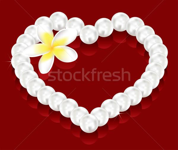 Vecteur saint valentin cadeaux perle perles fleur vecteur Photo stock © Dahlia