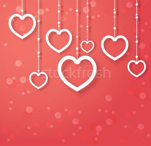 Vektör kalpler soyut dizayn sevgililer günü düğün Stok fotoğraf © Dahlia