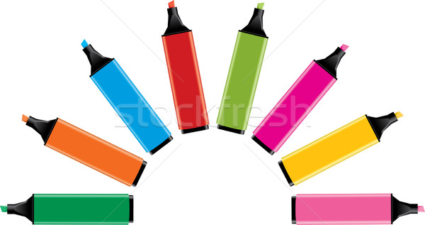 vector colorful highlighters Stock photo © Dahlia
