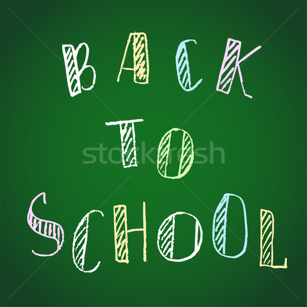 Vetor de volta à escola giz Foto stock © Dahlia