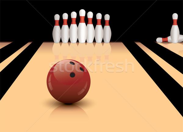 Vettore palla da bowling pronto sport divertimento palla Foto d'archivio © Dahlia