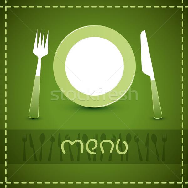Vetor menu projeto restaurante café papel Foto stock © Dahlia
