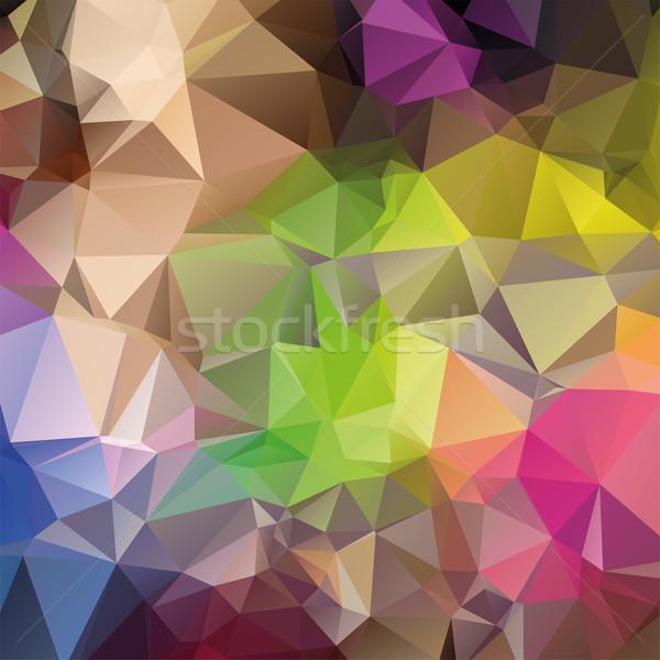 вектора аннотация мозаика шаблон фон ретро Сток-фото © Dahlia
