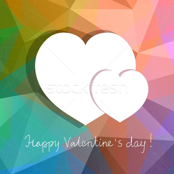 Vetor corações abstrato projeto dia dos namorados amor Foto stock © Dahlia