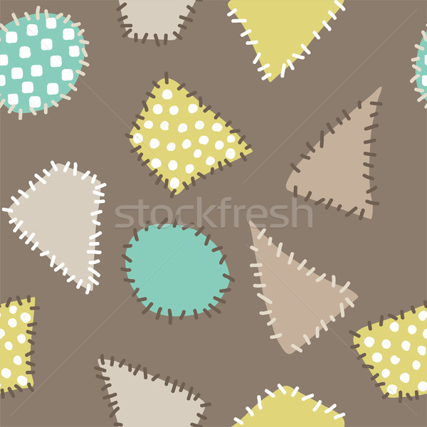 vector abstract background with colorful patches. Seamless patte Stock photo © Dahlia