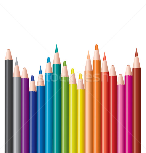 set of colored pencils Stock photo © Dahlia