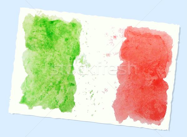 abstract watercolor flag of Italy, vector Stock photo © Dahlia
