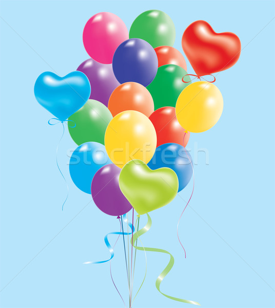 colorful balloons Stock photo © Dahlia