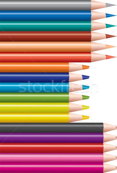 set of colored pencils Stock photo © Dahlia