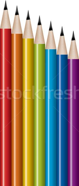 ベクトル セット 鉛筆 オフィス 作業 鉛筆 ストックフォト © Dahlia